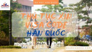 thủ tục xin visa Code Hàn Quốc